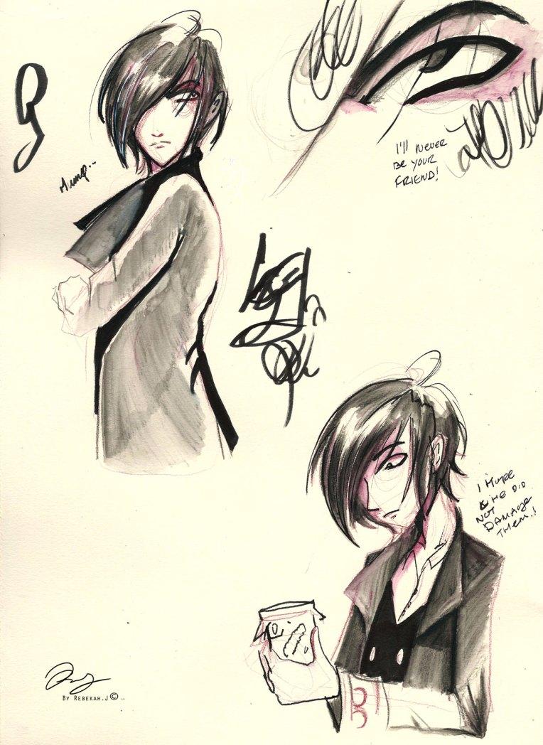Sketchbook Dr.Dresser annoyed expression. 2015