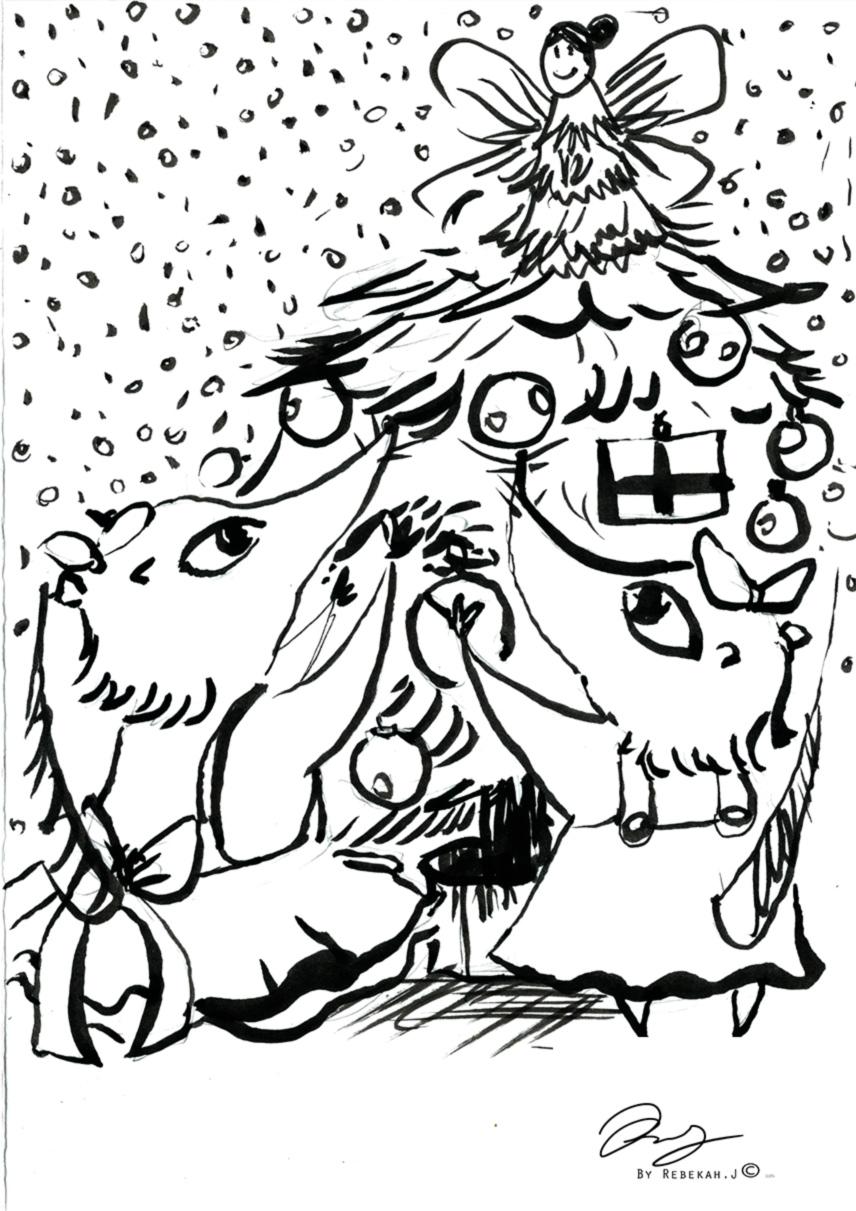 Christmas Illustration 2016 by Rebekah.J