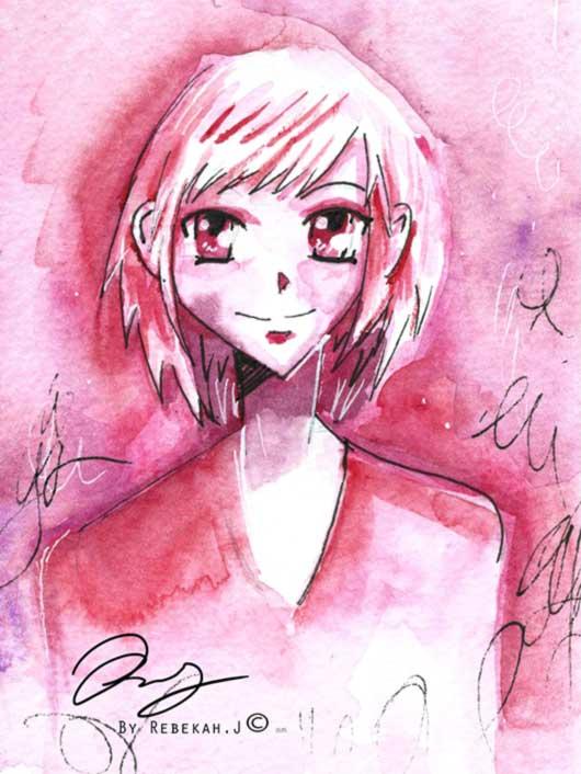 Manga portrait, by Rebekah Joseph