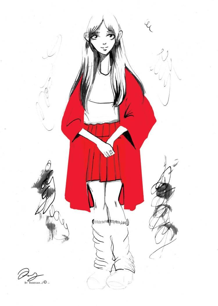 Harajuku Drawing, 2016 by Rebekah Joseph