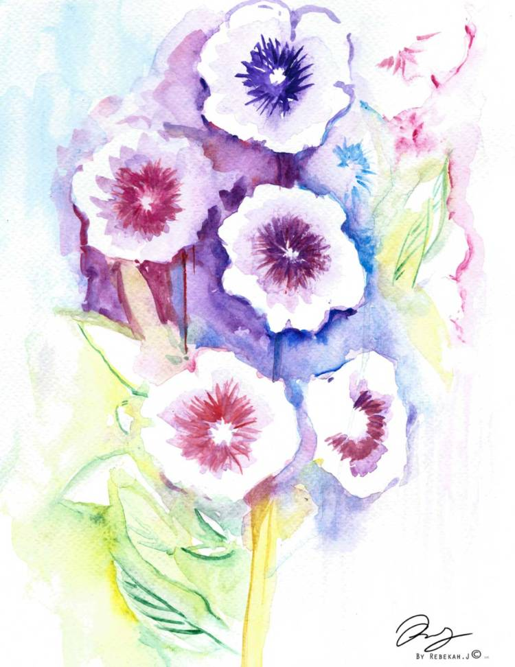 HollyHock Flower, by Rebekah Joseph, 2016