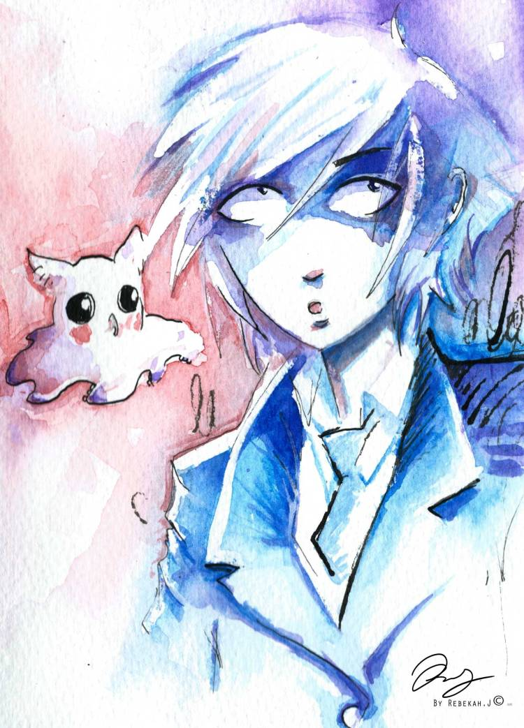 Lance and Bow watercolour-