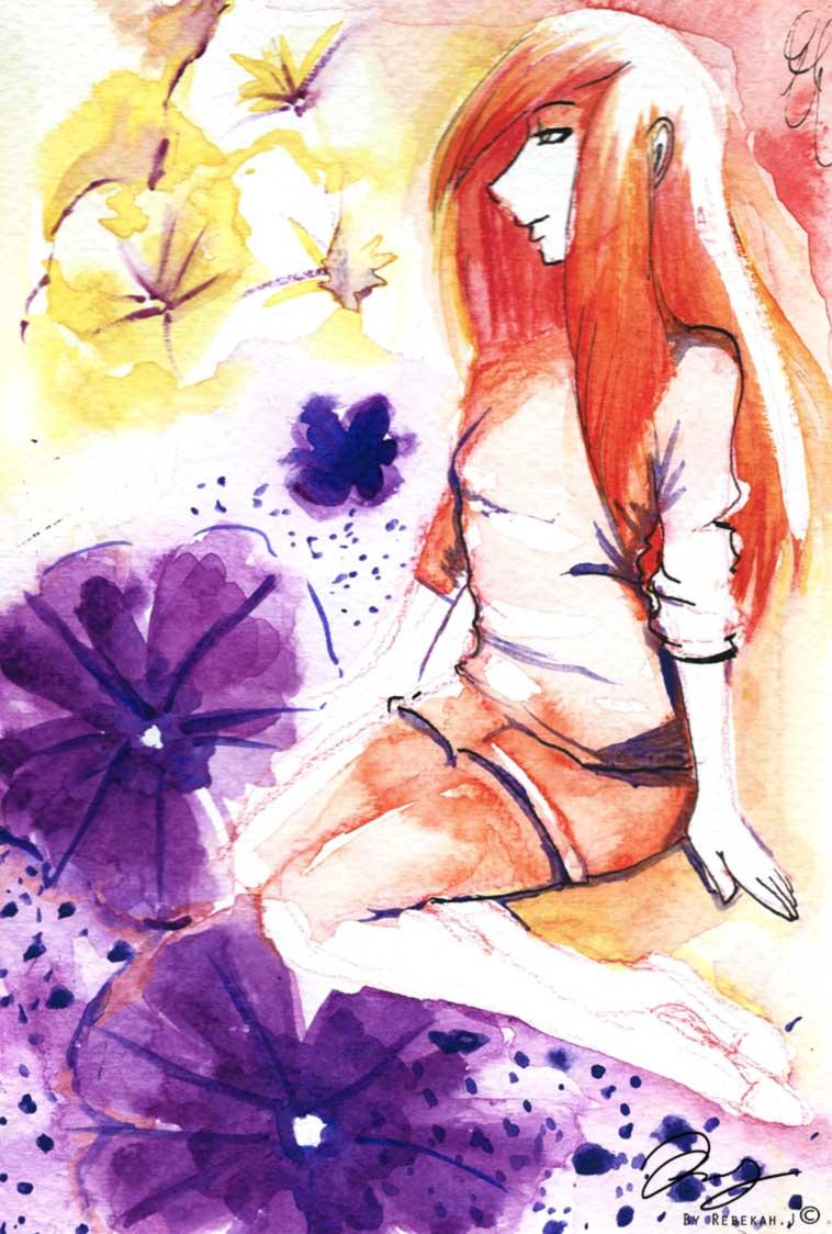 summer watercolour, by Rebekah Joseph 2016