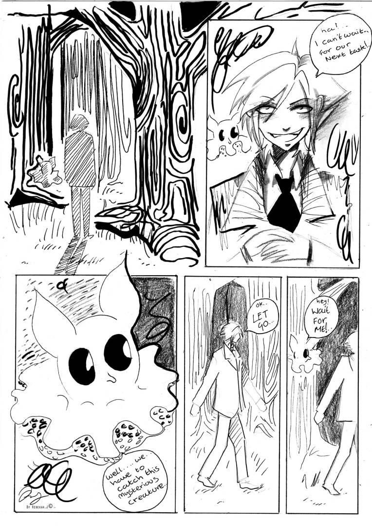 Comic: Boo and Lance: page 1 by Rebekah Joseph, 2016