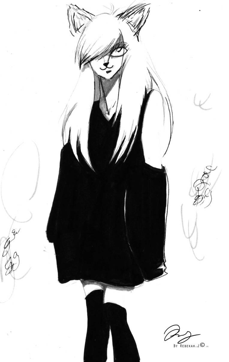 Sketchbook drawing by Rebekah Joseph, 2016