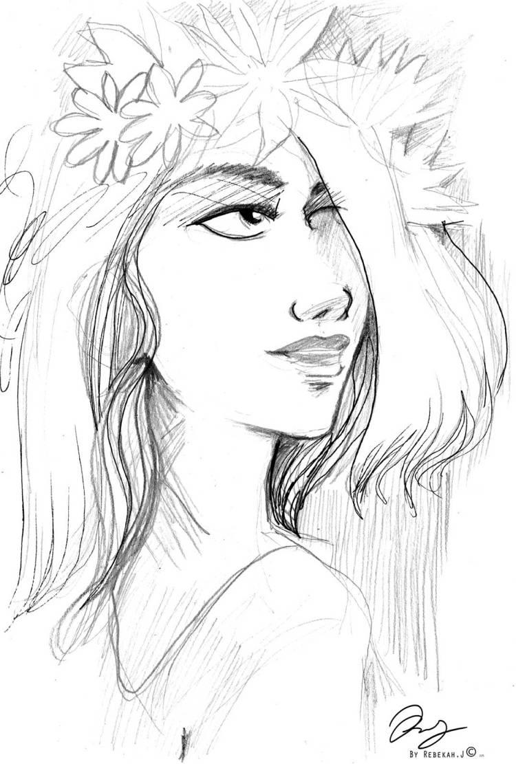 Portrait Drawing- Suha A by Rebekah Joseph