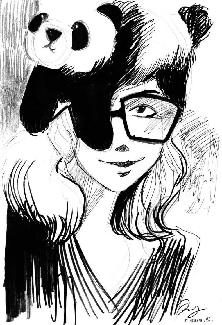 Portrait Drawing - Maxine Bouvier by Rebekah Joseph, 2016