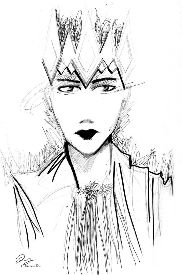 sketchbook sketch, Ice Prince by Rebekah Joseph