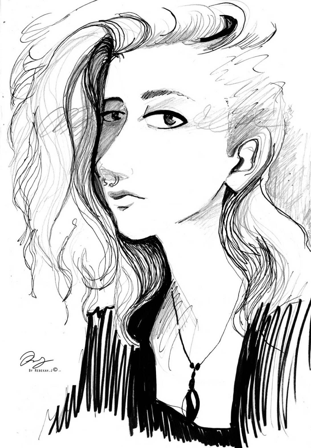 sketchbook sketch by Rebekah Joseph, 2016
