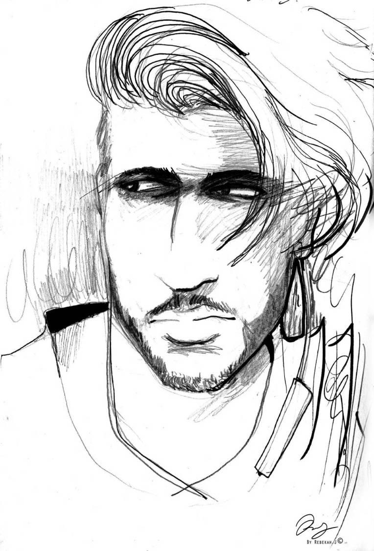 Portrait Drawing - Zayn Imad by Rebekah Joseph, 2016