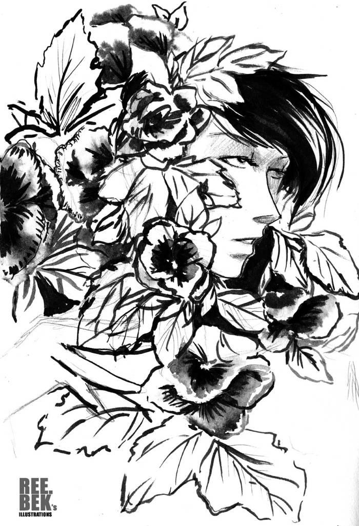 brush-drawing
