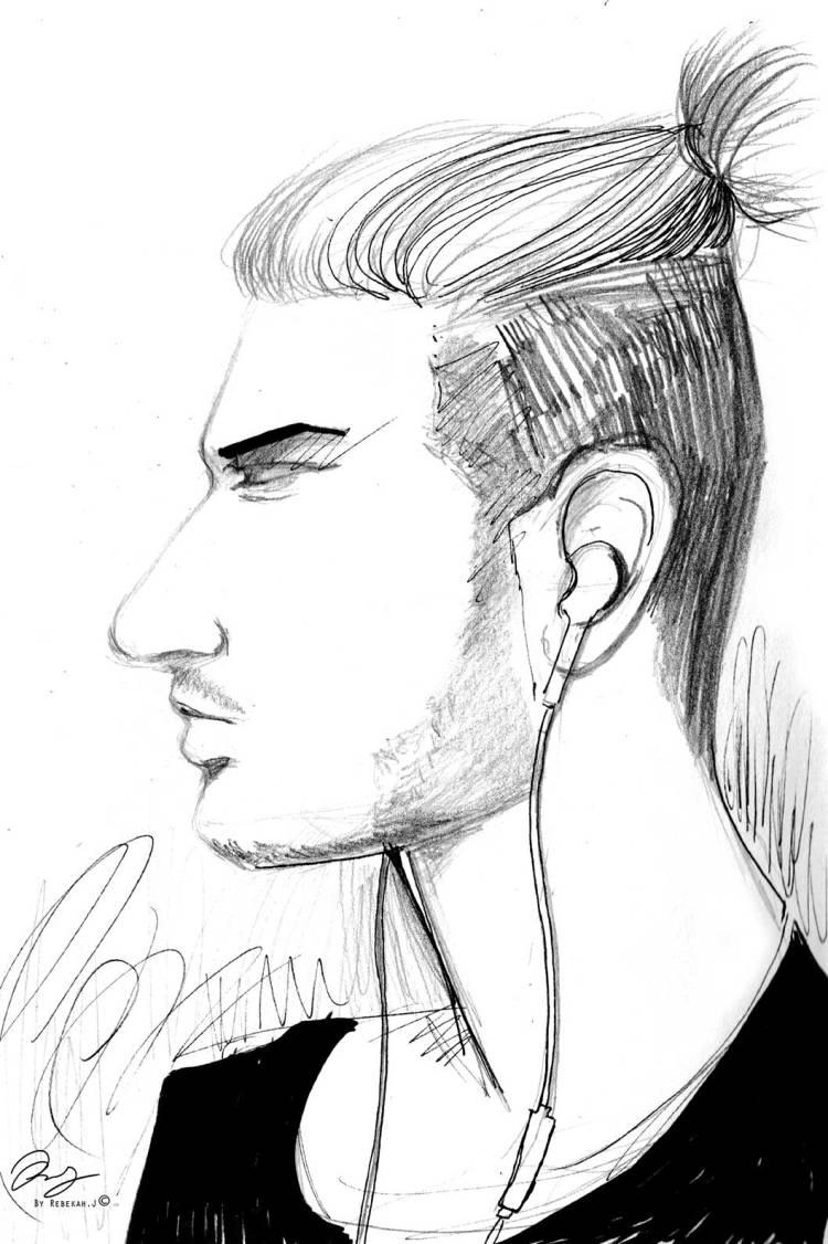 Quick Profile Sketch Drawing by Rebekah Joseph, 2016