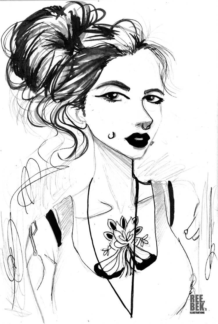 ink drawing by Rebekah Joseph 2016