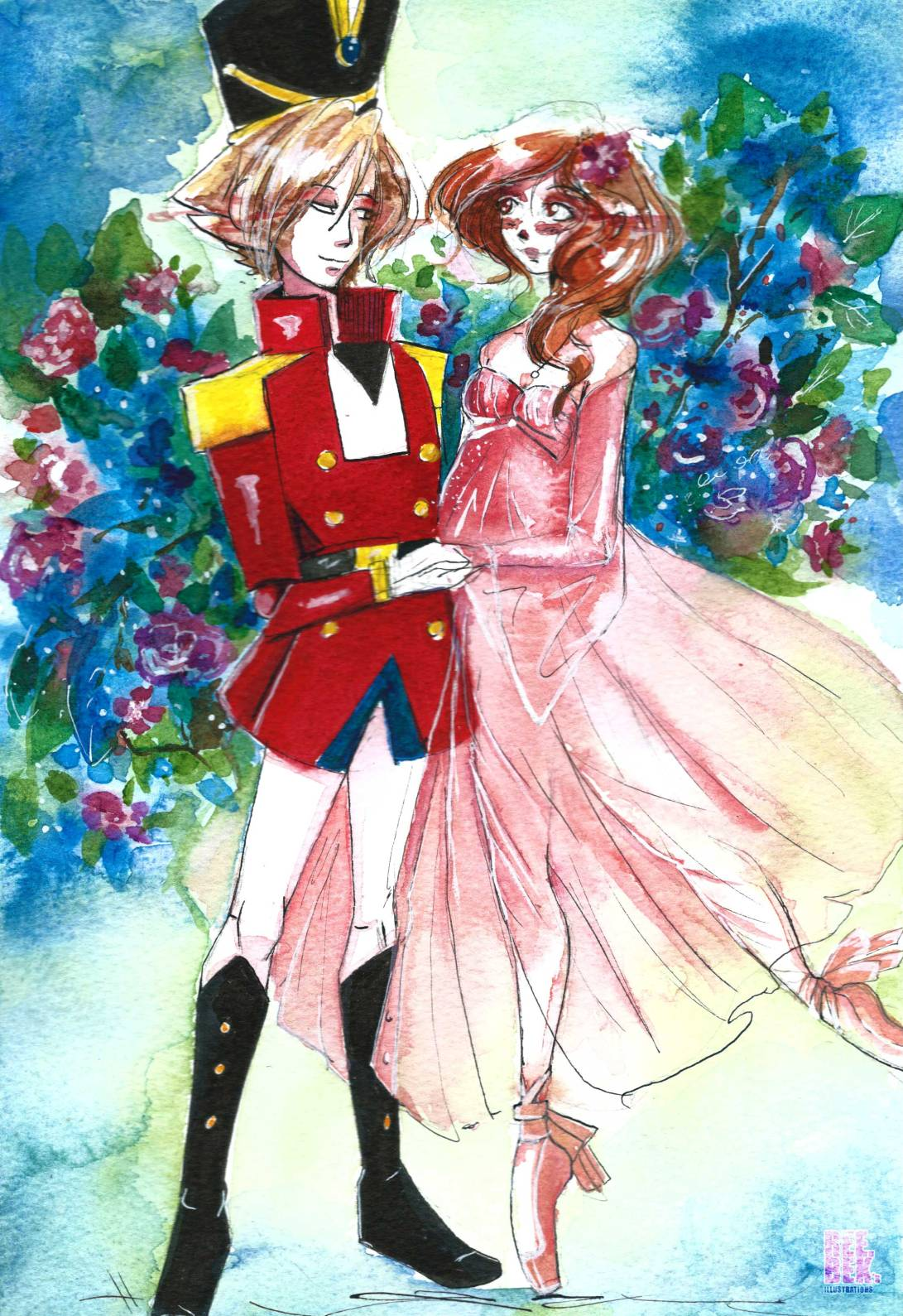 the-nutcracker-christmas-watercolour-2