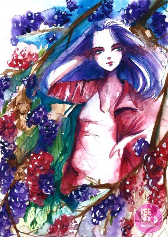 black-berries-watercolours