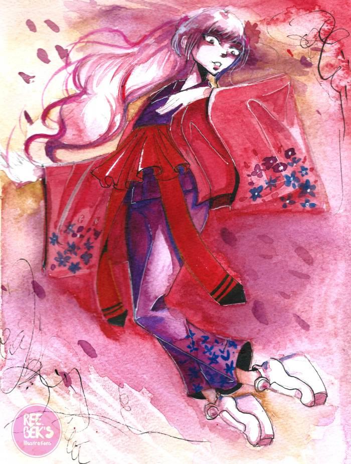 Sakura gem watercolour