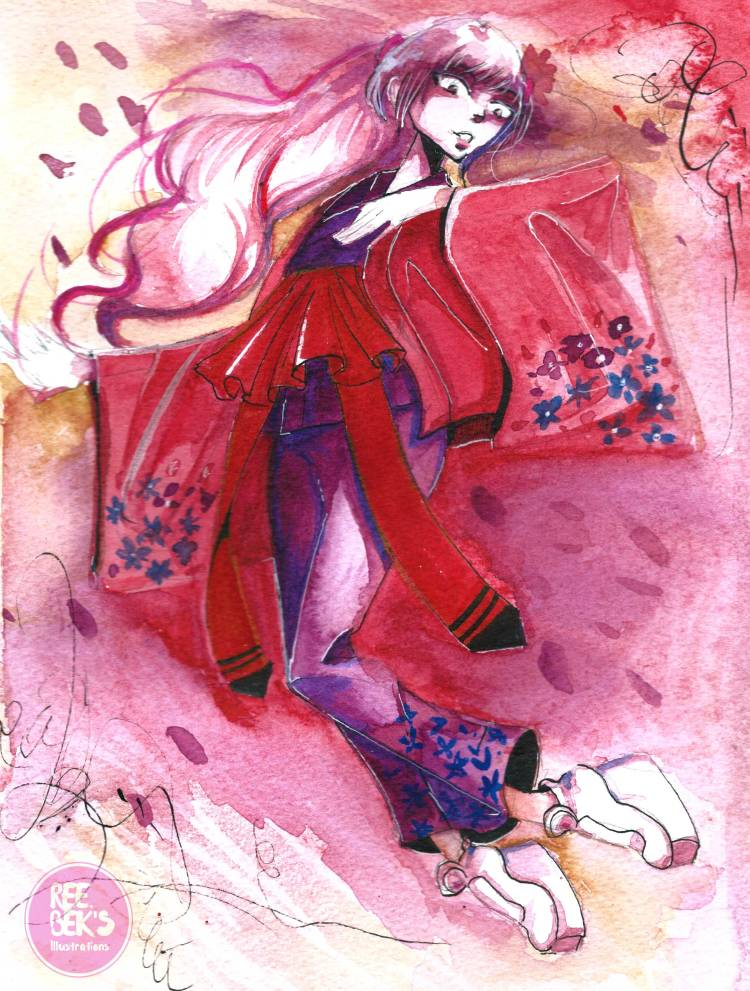 Sakura gem watercolour