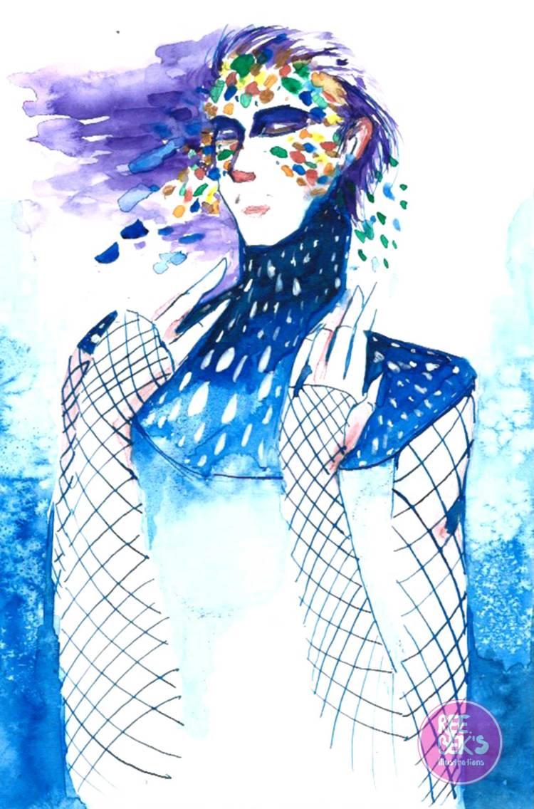 Peace and Calm Watercolour Painting Hot Press 2017 by Rebekah Joseph