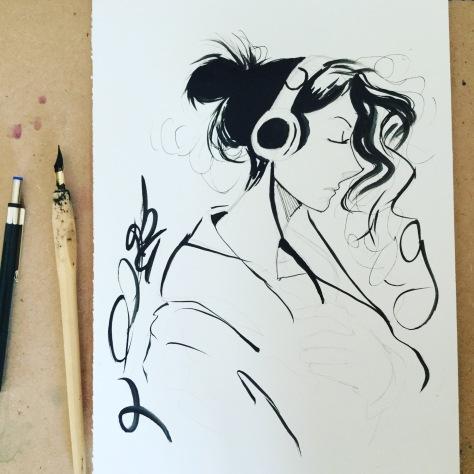 Photo of my watercolour painting 2017 by Rebekah Joseph