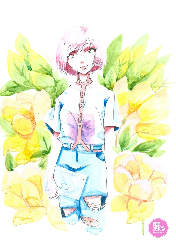 Watercolour Painting of a Young Girl