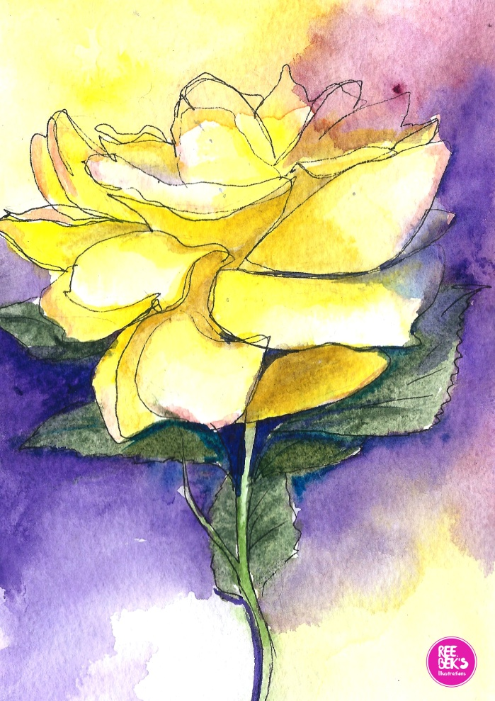 yellow-rose-watercolour